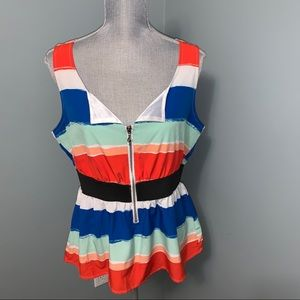 Guess striped sleeveless top size XL